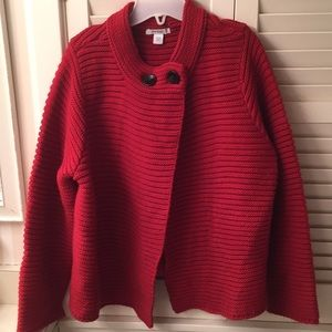 dressbarn red Holiday 2 button sweater
